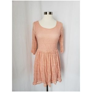 { modcloth } bow back pink lace dress